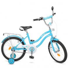 Велосипед детячий PROF1 18д. L1894 (1шт) Star, голубий,зеркало,дзвiнок,доп.колеса