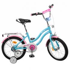 Велосипед дитячий PROF1 16д. L1694 (1шт/ящ) Star, блакитний, дзеркало, дзвінок, доп.колеса