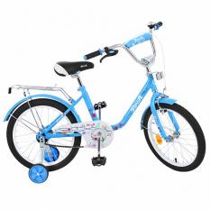 Велосипед дитячий PROF1 18д. L1884 (1шт/ящ) Flower, блакитний, дзеркало, дзвінок, доп.колеса