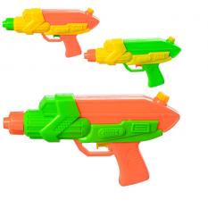 Водяний пістолет M 3081 (120шт) размір маленький, 22см, 3 кольори, в кульці,17-27-3см