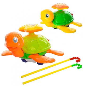 Каталка 0361 (72шт) на палці, черепаха, звук, подвиж.лапи и зірочка,2кольори,в кульці 20-20-13см