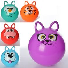 Мяч для фітнеса MS 0471 (25шт) с ушками,40см, одностікер,350г,5 видів (звірі),в кульці,17-13-3см