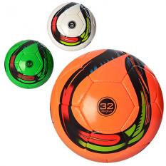 Мяч футбольний 3000-13ABC (30шт) размір5,ПУ1,5мм,4слоя,32панелі,400-420г,3кольори