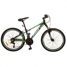 Велосипед 24 д. G24A315-L-1B (1шт / ящ) чорно-салат.