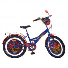 "Велосипед дитячий PROF1 мульт 20д. PS 2031 (1шт/ящ) ""Spider"", синьо-чорний"