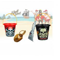 Набор для песочка 790 AB (120шт) піратский, відерко, 2види(лопатка,граблі),17-16-16см
