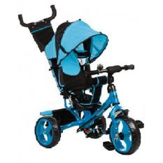 Велосипед M 3113-5A (1шт) три кол.резіна (12/10), колясочний, своб.ход колеса, гальмо, підшипників., Блакитний