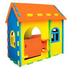 Будиночок Мозаїка M 3553 (1шт) EVA, ш 114,5 - в 115,5 - г 77 см, 2 входи, 4 вікна, товщ. дет. 2 см, розбірні, в коробці