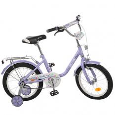 Велосипед дитячий PROF1 16д. L1683 (1ящ / 1шт) Flower, фіолетовий