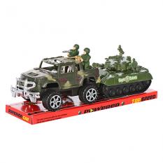 Джип 333 з танком і солдатиками, в слюді