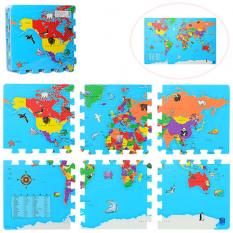 Килимок Мозаїка M 2612 Карта світу