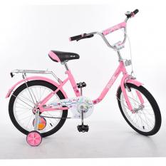 Велосипед дитячий PROF1 18д. L1881 (1шт) Flower, рожевий, дзеркало, дзвінок, доп.колеса