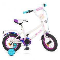 Велосипед дитячий PROF1 12д. Y12163 (1шт / ящ) Geometry, білий