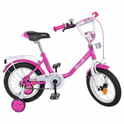 Велосипед дитячий PROF1 14д. Y1482 (1шт / ящ) Flower, малиновий