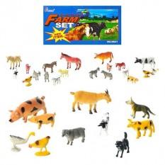 Тварини H 641-1-3(192шт) домашні, 3 види, 10шт в кульку, 20-15-3см